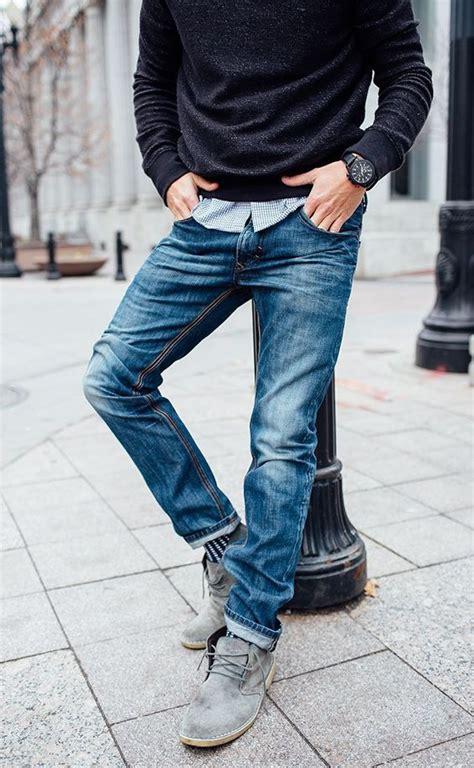 Men Jeans Fall Winter Nail Art Styling