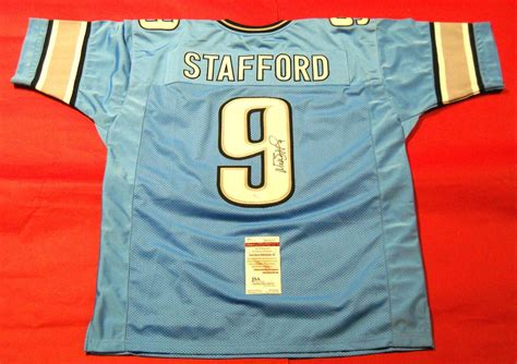 Signed Matthew Stafford Jersey