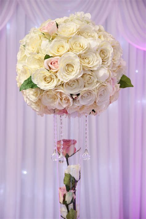 large rose ball centrepieces  expectations