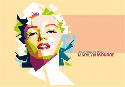 Monroe Marilyn Vector Portrait Wpap Vectors Clipart