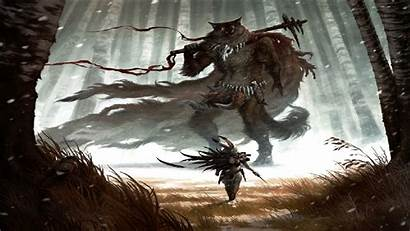 Warrior Background Fantasy Savage Wallpapers Wolf Furry