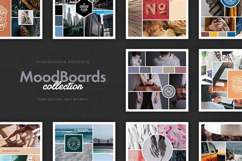 mood boards collection instagram templates creative market