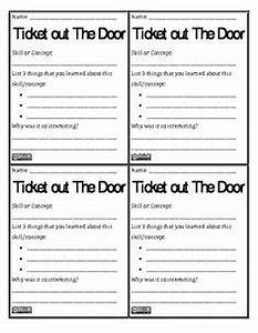 quottweetquot what you know formative assessment printables With ticket out the door template
