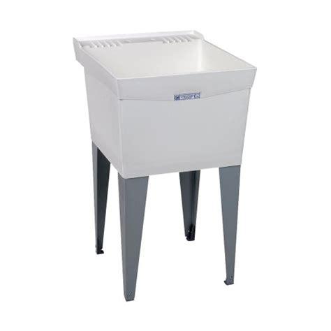 mustee 18f utilatub laundry tub floor mount 24 inch x 20 inch w