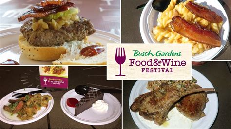 busch gardens food and wine busch gardens ta food wine festival food review vlog