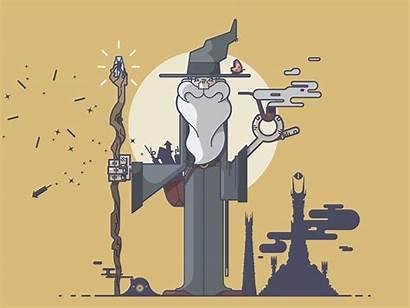 Gandalf Lord Rings Hobbit Illustration Fireworks Dribbble