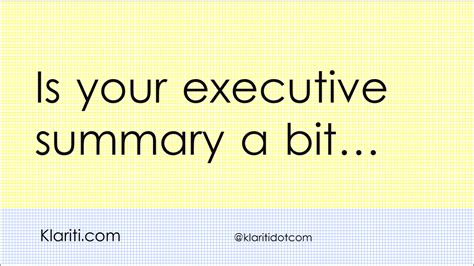 how to write an executive summary for your business plan