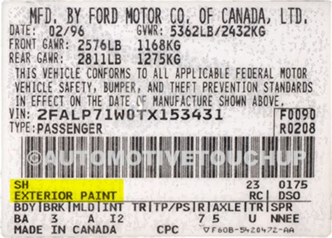 ford exterior paint code sh 1987 mustang gt paint code ford mustang