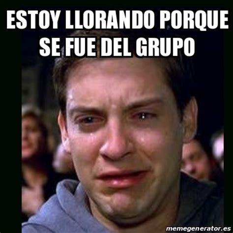 Memes Se - meme crying peter parker estoy llorando porque se fue del grupo 18923650