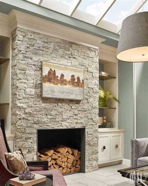 choose silver travertine stacked natural stone ledger