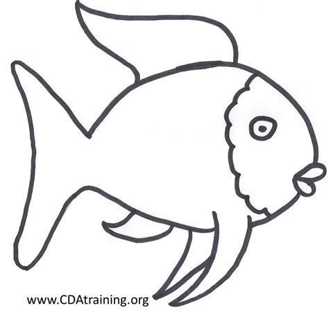 Fish Template Picture Book Ideas Rainbow Fish