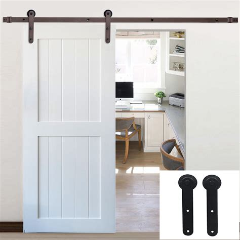 Closet Door Glides by 6 16ft Rustic Single Sliding Barn Door Hardware Track Kit