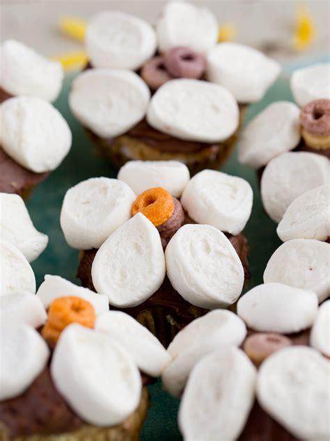 marshmallow flower funfetti cupcakes vegan recipe