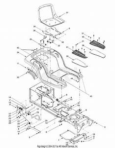 Mtd 14av807p131  2000  Parts Diagram For Seat  Frame