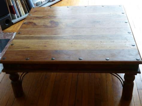 table cuisine bois exotique affordable table basse de salon en verre conforama table