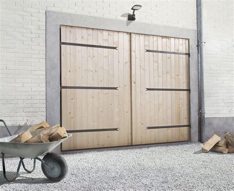 prix d une porte de garage en bois 2017 travaux