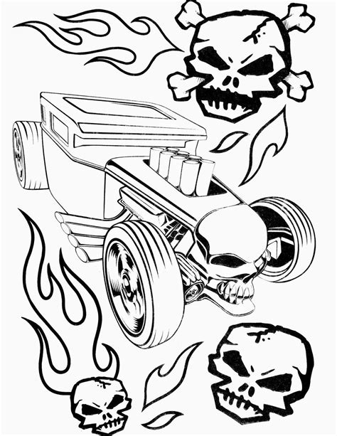 hot wheels coloring pages set   huge collection