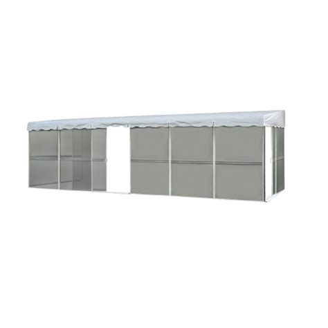 patio mate 10 panel screen enclosure 09322 white with gray roof home garden lawn garden outdoor