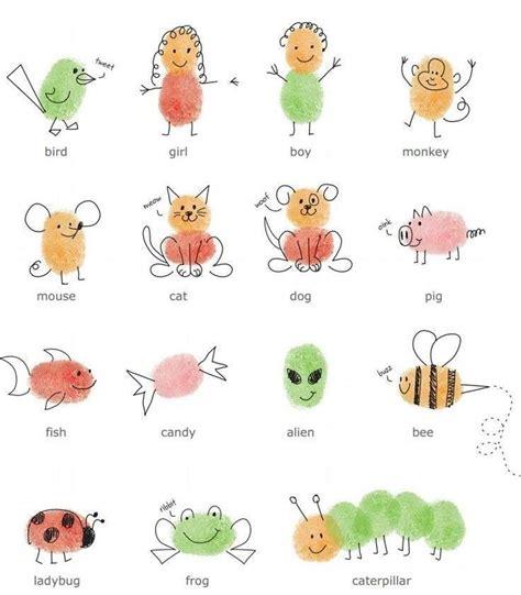 fingerprint animals kinderkram pinterest