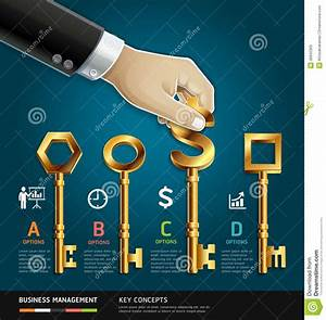 Businessman Hand With Key  Stock Vector