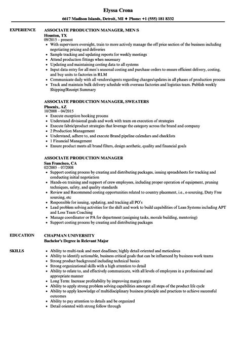 production manager resume samples bijeefopijburgnl