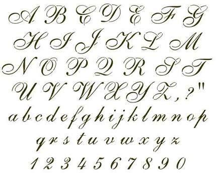 Image Result For Cursive Font  Cursive Font  Tattoo Fonts Cursive, Alphabet Stencils, Cursive