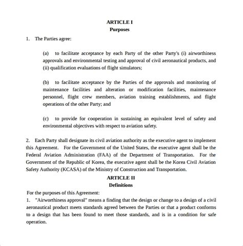 sample executive agreement templates  google