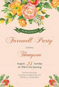 congratulations card template word floral farewell party invitation template farewell party