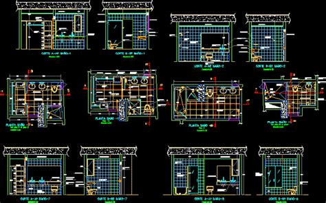 bathroom details dwg section  autocad designs cad