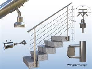 balkon handlauf geländer stirnseitig vorgesetzt edelstahl balkon treppe handlauf bausatz wange ebay
