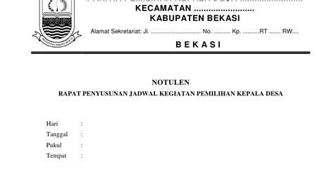 Buat Notulen Rapat by Contoh Notulen Rapat Musyawarah Desa Dicontoh