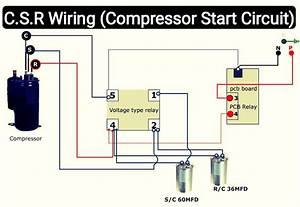 Air Conditioner C S R Wiring Diagram Compressor Start Full