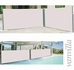 Seitenmarkise Ausziehbar 4 M : vanvilla doppel seitenmarkise beige 180x600 cm ~ Whattoseeinmadrid.com Haus und Dekorationen