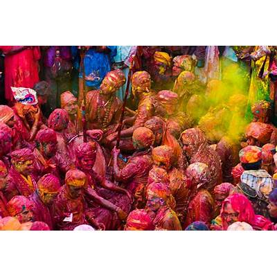 Exclusive Pictures of Lathmar Holi Celebration in India