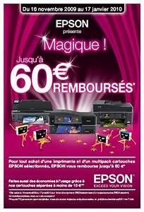Offre De Remboursement : l 39 offre de remboursement magique d 39 epson ~ Carolinahurricanesstore.com Idées de Décoration