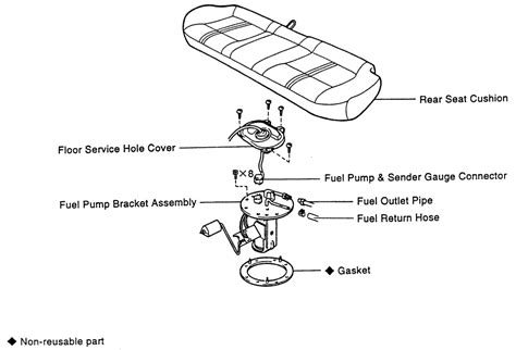 Toyota Camry Questions Where The Fuel Pump Located