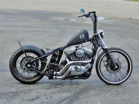 Custom Harley Bobber Softtail Completely Tricked Out Low