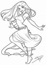 Coloring Pages Adult Dancing Deviantart Anime Drawings Drawing Angel Sabinerich Colouring Lineart Flowing Line Sheets Sabine Books Dibujos Colorful Character sketch template