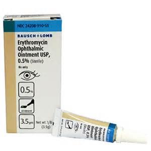 Erythromycin Ointment 0.5%, 3.5gm - Ophthalmic Antibiotics Erythromycin Ophthalmic Ointment