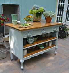 antique kitchen island 15 funky kitchen islands that will you jump on the repurposing trend
