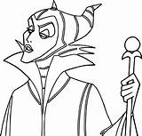 Maleficent Coloring Pages sketch template