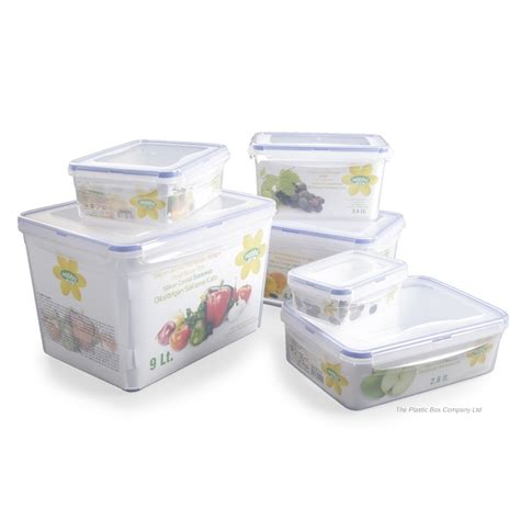 cuisine box buy 1 4lt hobbylife plastic storage box with clip on lid
