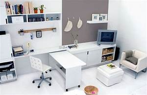 12 stylish contemporary home office ideas minimalist for Small home office furniture ideas