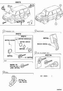 Toyota Land Cruiser Cylinder  U0026 Key Set  Electrical