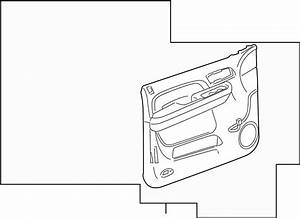 Gmc Yukon Xl 2500 Door Interior Trim Panel  Cashmere
