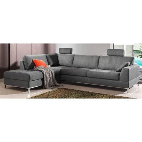 canapé d 39 angle moelleux et confortable en tissu de grande