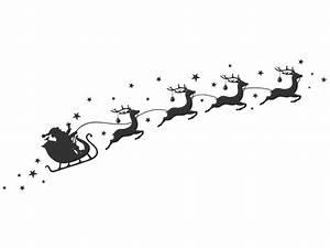 Weihnachtsmotive Schwarz Weiß : weihnachtsschlitten wandtattoo sterne bei ~ Buech-reservation.com Haus und Dekorationen