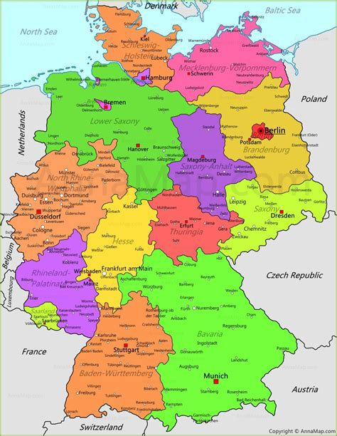 Germany Map Germany Political Map