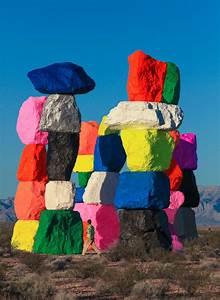 artist ugo rondinone builds florescent rock