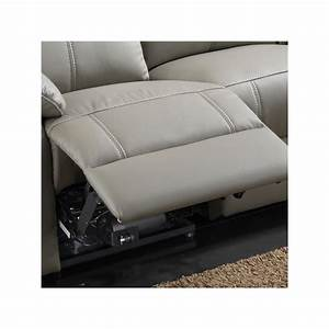 Canape relax electrique 3 places cuir vyctoire univers for Canape cuir relax electrique